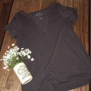 AE gray soft & sexy tee // size medium